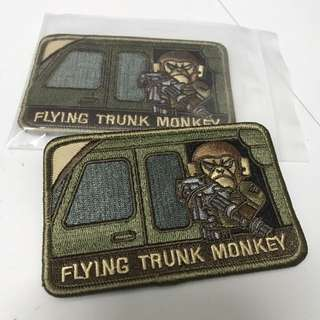 BNIP flying Trunk Monkey Tactical Morale Velcro Badge (multicam)
