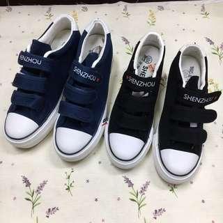 🎉2017💕韓版💕魔鬼氈內增高帆布鞋鬆糕鞋懶人鞋