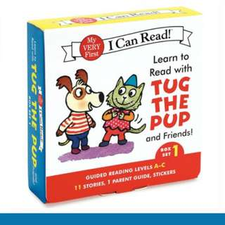 Learn To Read With Tug The Pug And Friends 12 Books Set (Set 1, 2, 3 Available)