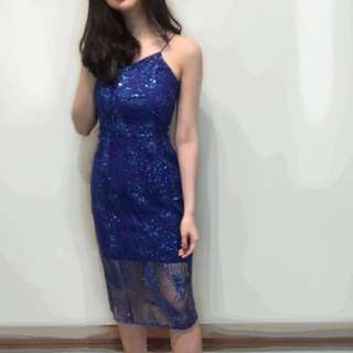 Defect Blue Midi Dress