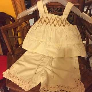 大約2歲著,愛不惜手非常Q服裝仔,日本版子靚料👍🏿👍🏿$150/2 套😁