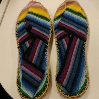 Rainbow Espadrille Made In France Sz. 37
