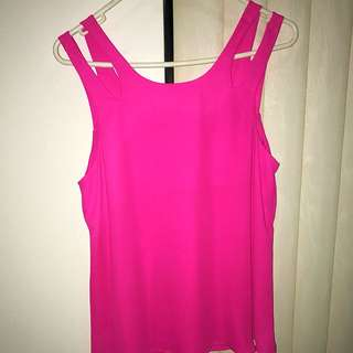 Pink Double Strap Top