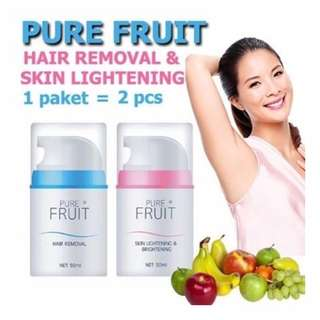 Pure Fruit Hair Removal & Whitening Sets