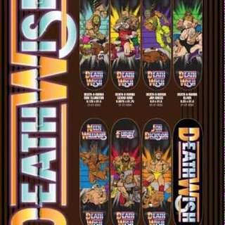 7 x Deathwish Wrestling Series Boards