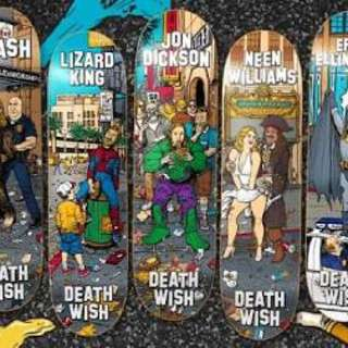 7 x Deathwish Hollywood Series Boards