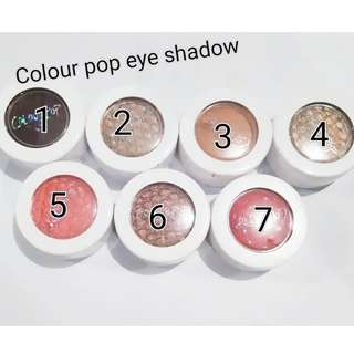 Color pop eye shadow