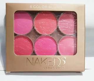 Naked 6 color blush