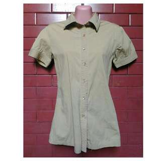 Brown Botton Down Polo (Women)