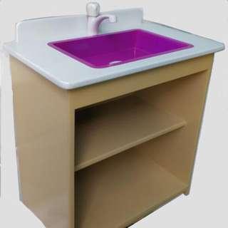 Kid's Play Kitchen Cabinet Violet