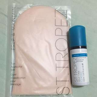 ST TROPEZ Self Tan Bronzing Mousse Classic 50mL & ST TROPEZ Tan Applicator Mitt
