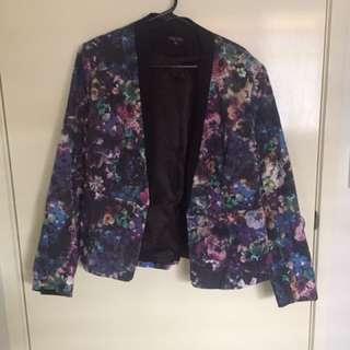 City Chic Plus Size Floral Blazer/jacket - Small
