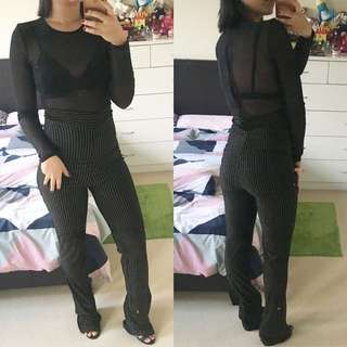 Missguided Sheer Jumpsuit