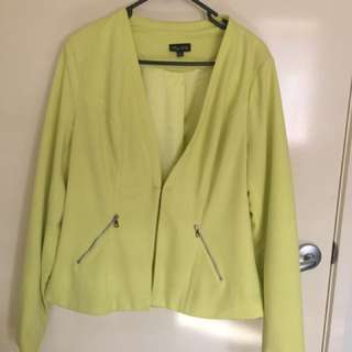 Pre Loved Plus Size City Chic Green Jacket - Size XS