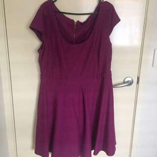 Pre LovedPlus Size City Chic Purple Skater Dress. Size - Medium