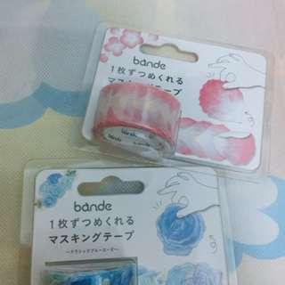 Bande 花朵紙膠帶 櫻花 藍花