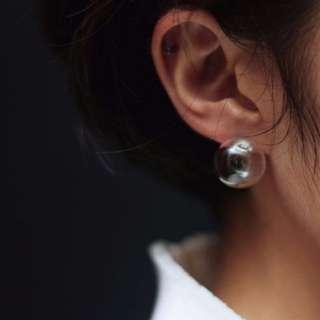 透明氣泡耳環
