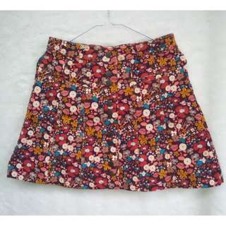 Zara Flowery Brownie Mini Skirt