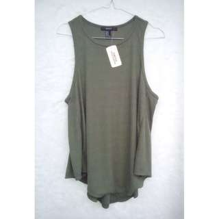 NEW Forever 21 olive green sleeveless top