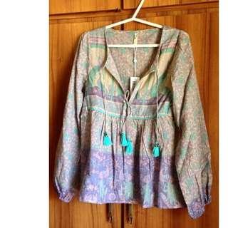 BNWT xanadu blouse sz x small