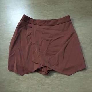 Brown origami skirt