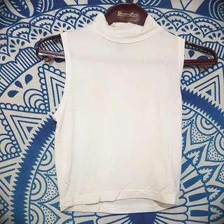 New Cotton On White Turtle Neck Top
