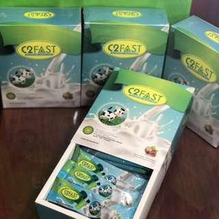 C2FAST Susu Bubuk Skim With Hazelnut Powder (100% Pure Milk Low Fat Colostrum)