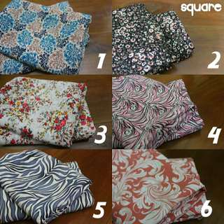 NEW Square Hijab Motif Flower