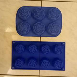玫瑰,禮物,葉子造型肥皂模具
