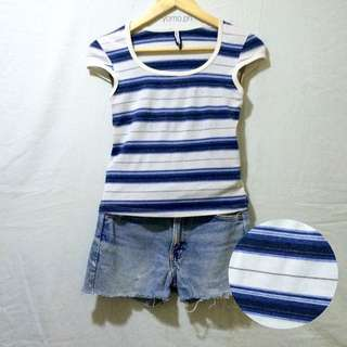 Forever21 Fitted Stripe Top