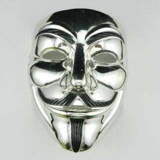 Silver 🔱 V for Vendetta Guy Fawkes Mask