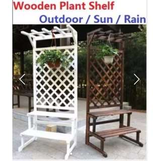 Carbonized cedarwood Plant stand plant rack for Sun & Rain