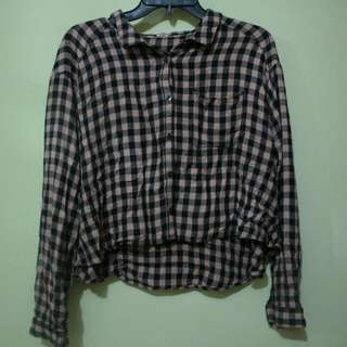 Flanel Crop Top