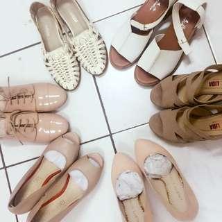 白色 羅馬風 包鞋 #五百元好女鞋