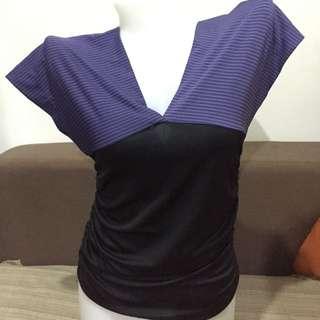 Jewels Purple Blouse V-Cut