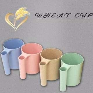 小麥秸稈牙刷架 洗漱杯 漱口杯 水杯 牙刷杯 衛浴用品#Y160