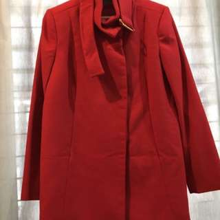 (REPRICE!) MANGO Red Coat! SUperB COndition!