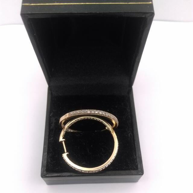 10CT Yellow Gold Diamond Earrings