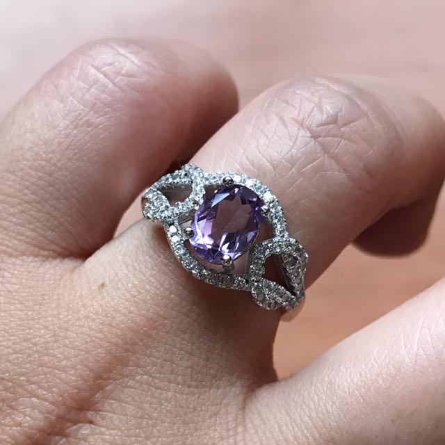 天然紫水晶女戒