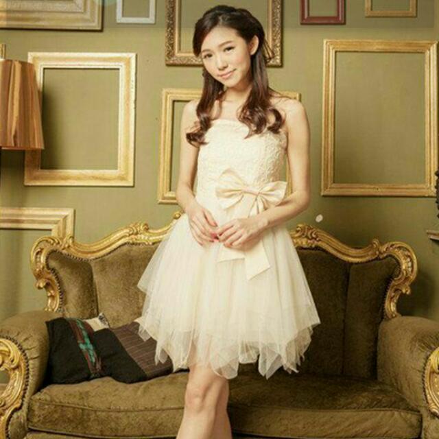 【#轉轉來交換】超美杏色紗裙小禮服