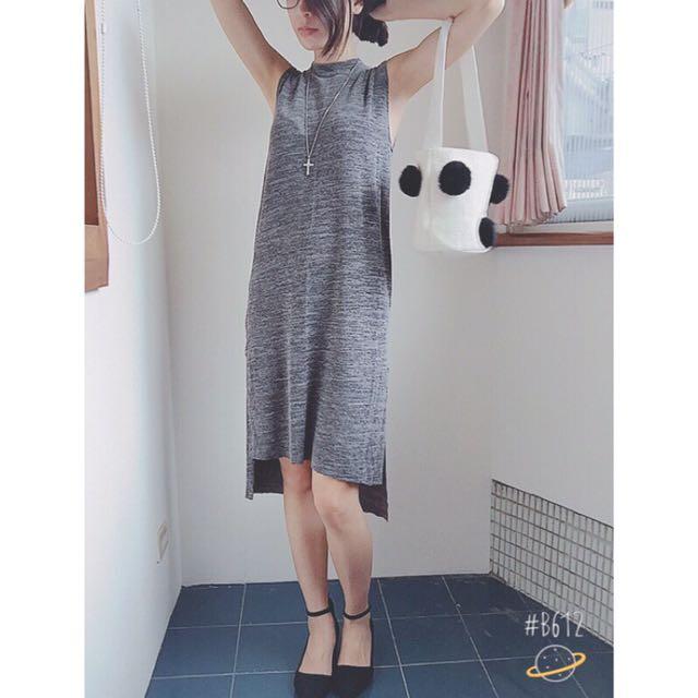 韓。全新薄針織洋裝