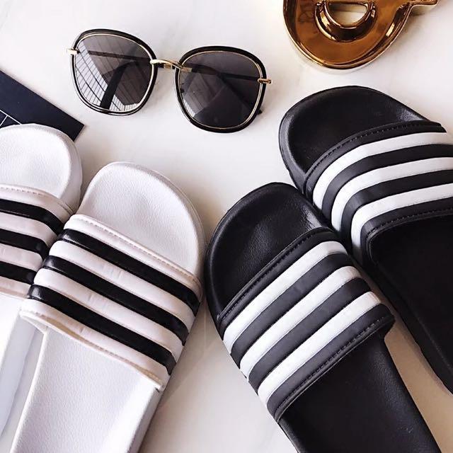 ✨韓版條紋經典版室內室外拖鞋(情侶鞋)