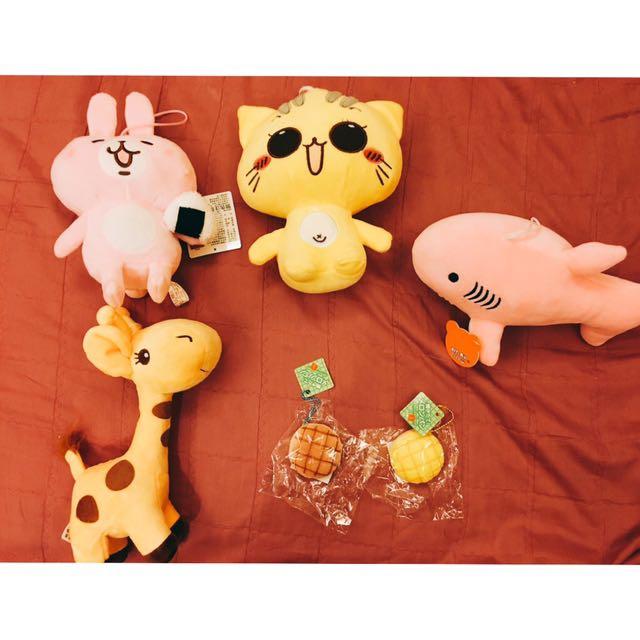 ❤️娃娃 卡納赫拉/貓咪/長頸鹿/鯊魚/菠蘿麵包
