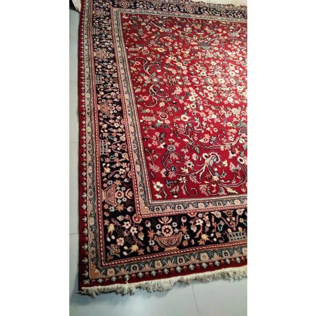 波斯地毯 美國帶回 手工羊毛製造 九成新