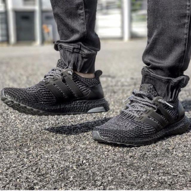 現貨 Adidas Ultra Boost 全黑配色 3M Us 8.5