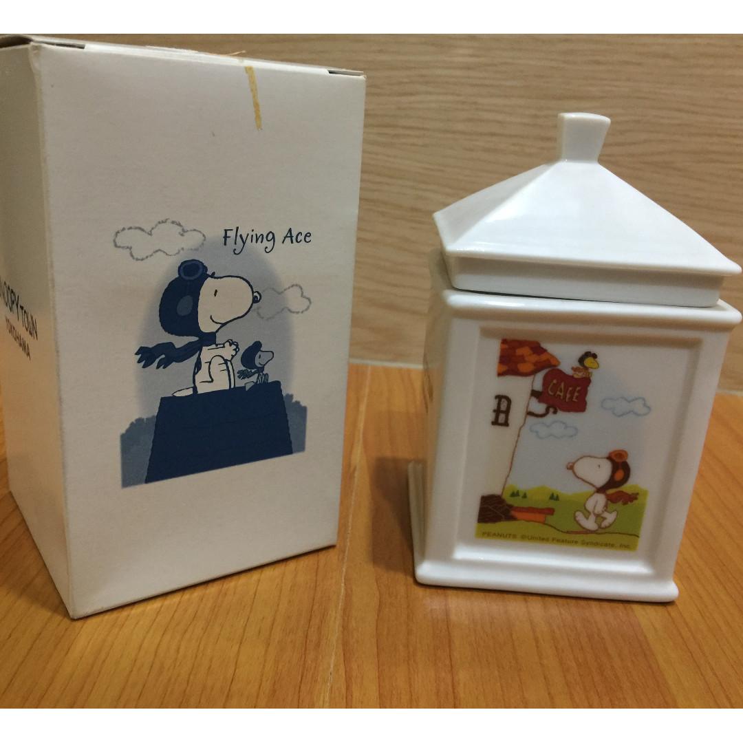 #轉轉來交換 日本橫濱 Snoopy史努比餅乾罐 小瓷罐 可換物