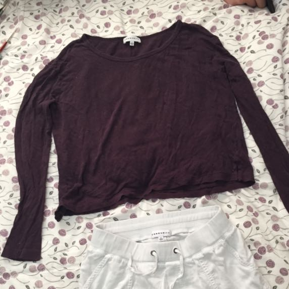 Aritzia Fashion Long Sleeve Top (Somewhat Cropped)