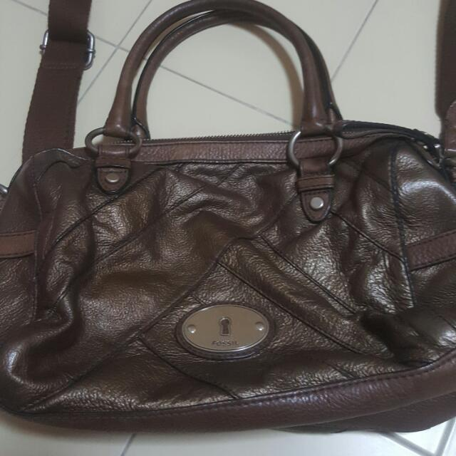Authentic Fossil Leather Bag
