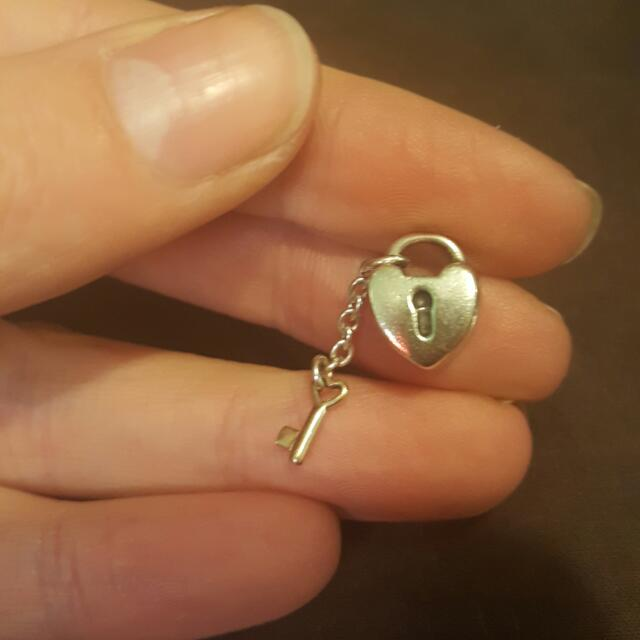 Authentic Pandora Charm Lock And Key