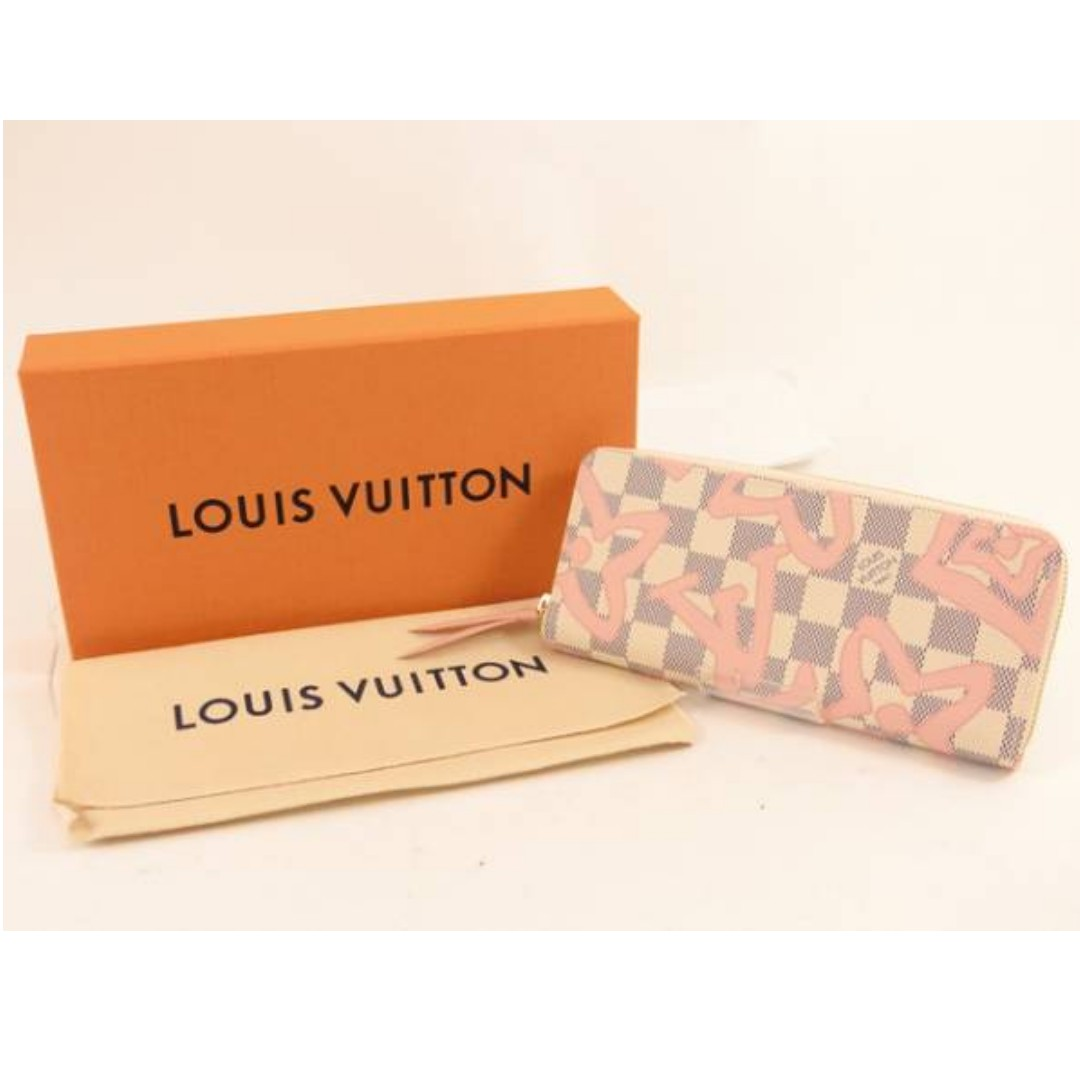 Authentic Vuitton Damier Azur Tahiti Wallet SP1117